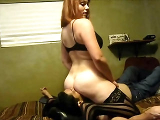 Horny Amateur Babe sitting on his face