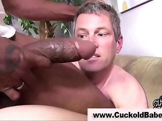 Interracial cuckold slut gets hot being fucked
