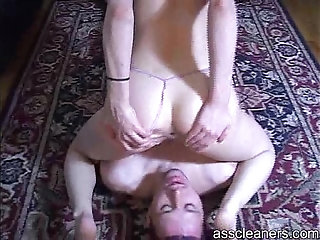 Mistress sits on a man's face only to explode her stinky fart