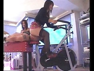 Asian Mistresses Bike Facesitting