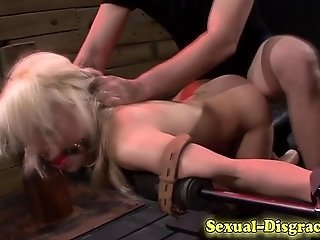Bdsm blonde fucked hard