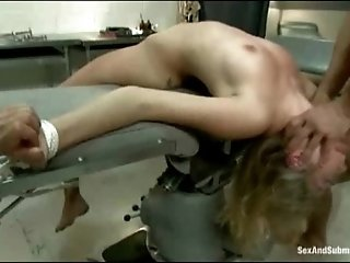 Sexy nurse held hostage and fucked in bondage fantasy